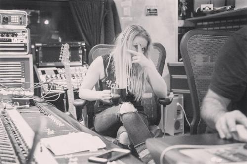 megs in studio